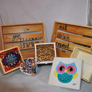 Assorted wood crafts